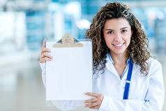 Doctor holding a clipboard Stock Photo