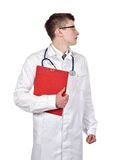 Doctor holding clipboard Royalty Free Stock Image