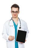 Doctor Holding Digital Tablet Stock Photos