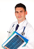 Doctor holding folders Stock Images