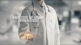 Doctor holding in hand Analysis of Urine Urinalysis Stock Image