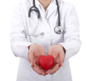 Doctor holding heart Royalty Free Stock Photography