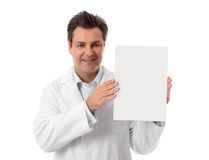 Doctor holding information or form Royalty Free Stock Images