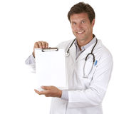 Doctor holding notes Royalty Free Stock Photo