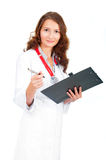 Doctor holding pen Stock Photography