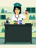 Doctor holding prescription bottle Stock Images