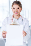 Doctor holding a prescription Stock Image