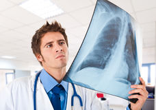 Doctor holding a radiography Royalty Free Stock Photos