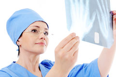 Doctor holding  X-ray Stock Photo