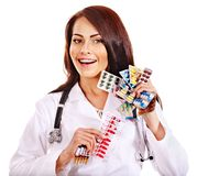 Doctor holding remedy. Stock Photos