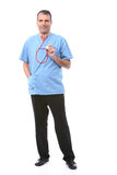 Doctor holding a stethoscope Royalty Free Stock Image