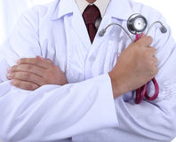 Doctor Holding stethoscope concept Royalty Free Stock Photos