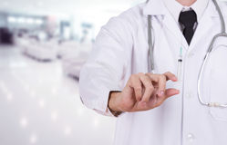 Doctor holding syringe in hospital Royalty Free Stock Photo