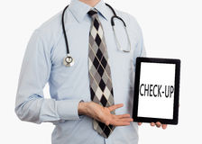 Doctor holding tablet - Check-up Royalty Free Stock Images