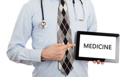 Doctor holding tablet - Medicine Royalty Free Stock Photo