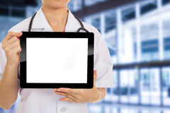 Doctor holding tablet Royalty Free Stock Photography