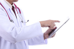 Doctor Holding touch pad concept Stock Photography