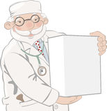 Doctor holds box Stock Photo
