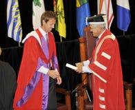 Doctor honorario de Daniel Nestor de puntos bajos Foto de archivo libre de regalías