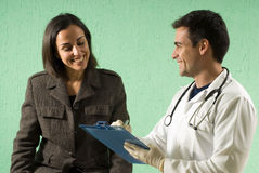 doctor horizontal patient Στοκ Εικόνες