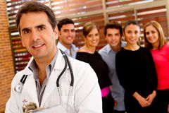Doctor at the hospital Stock Photos