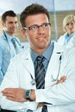 Doctor on hospital corridor Royalty Free Stock Images
