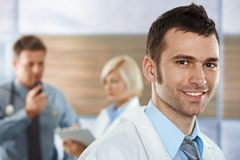 Doctor on hospital corridor Stock Photo
