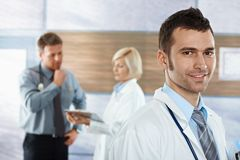 Doctor on hospital corridor Stock Image