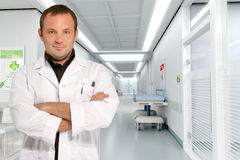 Doctor at hospital corridor Royalty Free Stock Image