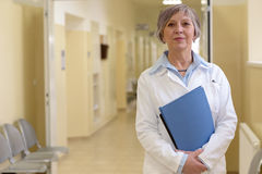 Doctor in hospital corridor Royalty Free Stock Photos