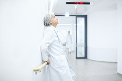 Doctor Hospital fatigue royalty free stock photography