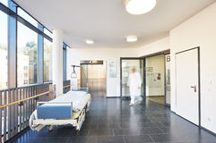 Doctor Hospital hallway elevator royalty free stock photo