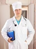 Doctor in hospital interior Stock Image