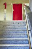 Doctor hospital stairs waiting hall Lift red Royalty Free Stock Photos