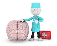 Doctor and human brain Stock Image