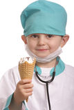 Doctor with ice-cream Stock Image