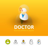 Doctor icon in different style Royalty Free Stock Image