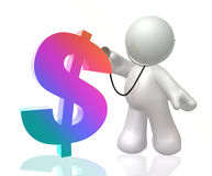 Doctor icon figure. Doctor health icon figure 3d illustration Royalty Free Stock Image