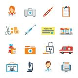 Doctor Icon Flat Royalty Free Stock Photo