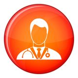 Doctor icon, flat style Royalty Free Stock Images