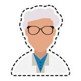 Doctor icon image. Faceless elderly male doctor icon image  illustration design Stock Images