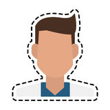 Doctor icon image. Faceless male doctor icon image  illustration design Royalty Free Stock Photo