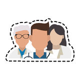 Doctor icon image. Group of faceless doctors icon image  illustration design Stock Image