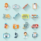 Doctor Icon Set. With medical specialists first aid instruments isolated vector illustration Royalty Free Stock Photos