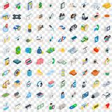 100 doctor icons set, isometric 3d style Stock Photos