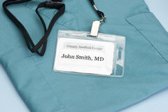 Doctor ID Royalty Free Stock Photography