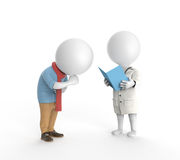 Doctor and ill patient Stock Photography