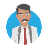 Doctor  illustration. On a white background. Happy physician. Stock Image