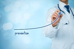 Doctor improve prevention. Doctor improve patient prevention and better access to medical and healthcare supervision. Medical practitioner motivate patients to Royalty Free Stock Image