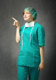 Doctor indicated for advertising. Emotions and expressions for person stock images